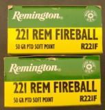2 Boxes (40 rounds) Remington .221 Fireball - 6 of 8