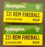 2 Boxes (40 rounds) Remington .221 Fireball - 5 of 8