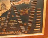 Original Winchester Cartridge Ammunition Board Double W - 10 of 12