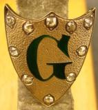 Gold Escutcheon with Diamonds - 1 of 3