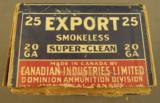 CIL Export 20 GA Shotshell Box - 4 of 7