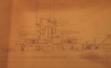 U.S.S. Tusk Submarine Plan Drawings 1945 - 5 of 11