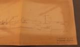 U.S.S. Tusk Submarine Plan Drawings 1945 - 6 of 11