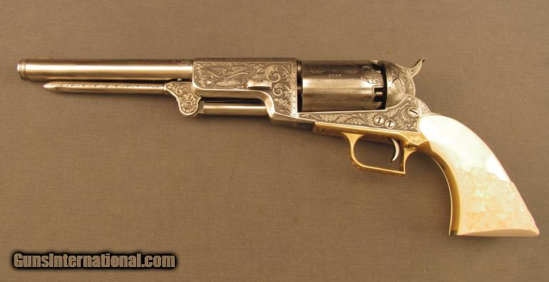 Colt 2nd Gen 1847 Walker Dragoon Engraved by John Adams Sr