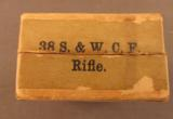 EMPTY Winchester 38 Smith & Wesson Rifle Box - 5 of 7