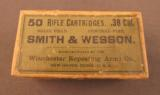 EMPTY Winchester 38 Smith & Wesson Rifle Box - 1 of 7