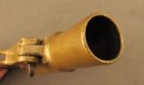 Unusual French Brass Saw Handle Flare Pistol - 10 of 11