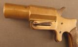 Unusual French Brass Saw Handle Flare Pistol - 5 of 11