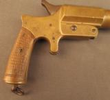 Unusual French Brass Saw Handle Flare Pistol - 2 of 11