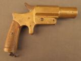 Unusual French Brass Saw Handle Flare Pistol - 1 of 11