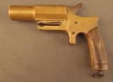 Unusual French Brass Saw Handle Flare Pistol - 4 of 11