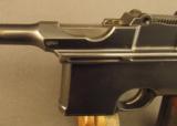 Exquisite Mauser Commercial Flatside Broomhandle Pistol - 8 of 12