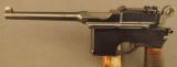 Exquisite Mauser Commercial Flatside Broomhandle Pistol - 6 of 12