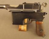 Exquisite Mauser Commercial Flatside Broomhandle Pistol - 5 of 12