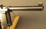 Exquisite Mauser Commercial Flatside Broomhandle Pistol - 4 of 12