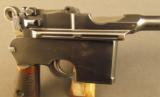 Exquisite Mauser Commercial Flatside Broomhandle Pistol - 3 of 12