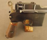Exquisite Mauser Commercial Flatside Broomhandle Pistol - 2 of 12