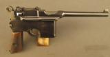 Exquisite Mauser Commercial Flatside Broomhandle Pistol - 1 of 12