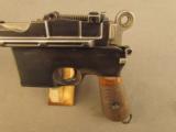 Exquisite Mauser Commercial Flatside Broomhandle Pistol - 7 of 12