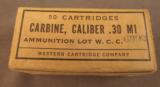 Western Cartridge Co 30 Carbine Ammo - 1 of 2