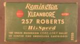 Remington Hi-Speed .257 Roberts Hollow Point Ammo - 1 of 3