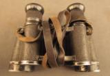 WW2 German Binoculars & Rare Bakelite Case - 10 of 12