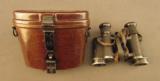 WW2 German Binoculars & Rare Bakelite Case - 1 of 12