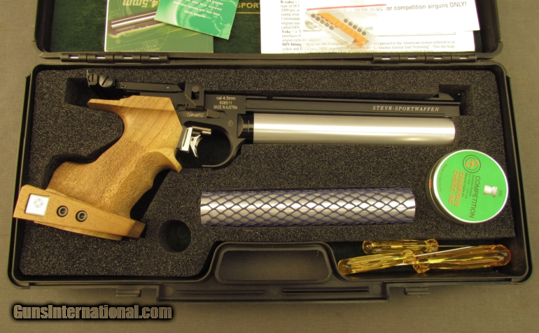 Steyr Model LP-50 Competition Air Pistol with Accessories New Conditio