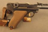 1918 German Artillery Luger Pistol with Matching Shoulder Stock etc. - 3 of 12