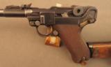 1918 German Artillery Luger Pistol with Matching Shoulder Stock etc. - 6 of 12