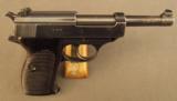 German Walther Zero Series P.38 Pistol 3rd Model