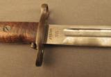 Early 1905 Bayonet In Second Type Scabbard 1912 Date - 3 of 9