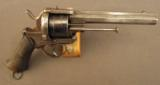 Military Style Pinfire Revolver With Topstrap