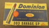 Dominion 303 Savage Soft Point Ammo - 1 of 3