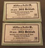 Sellier & Bellot .303 British Ammo 40 Rnds 180gr FMJ