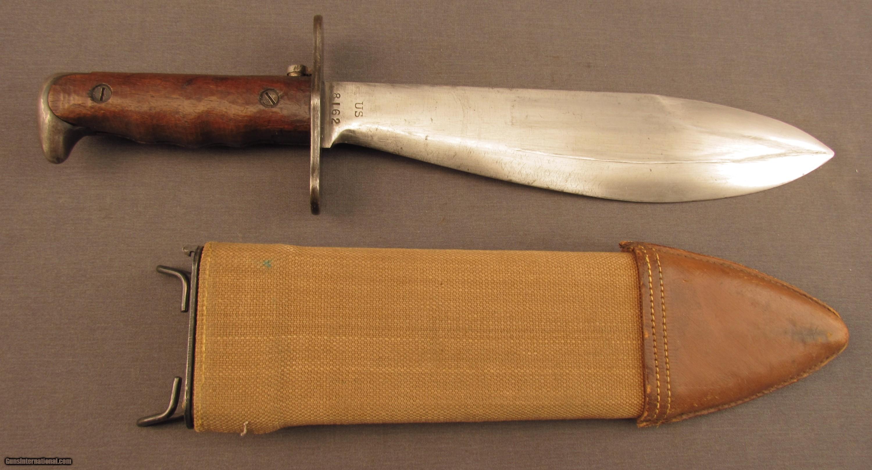 Springfield Armory U S Bolo Knife Model 1910 W Scabbard