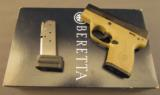 Beretta 9mm Nano Pistol Model BU9 Desert Earth