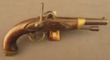 French Model 1822/42 Percussion Conversion Pistol