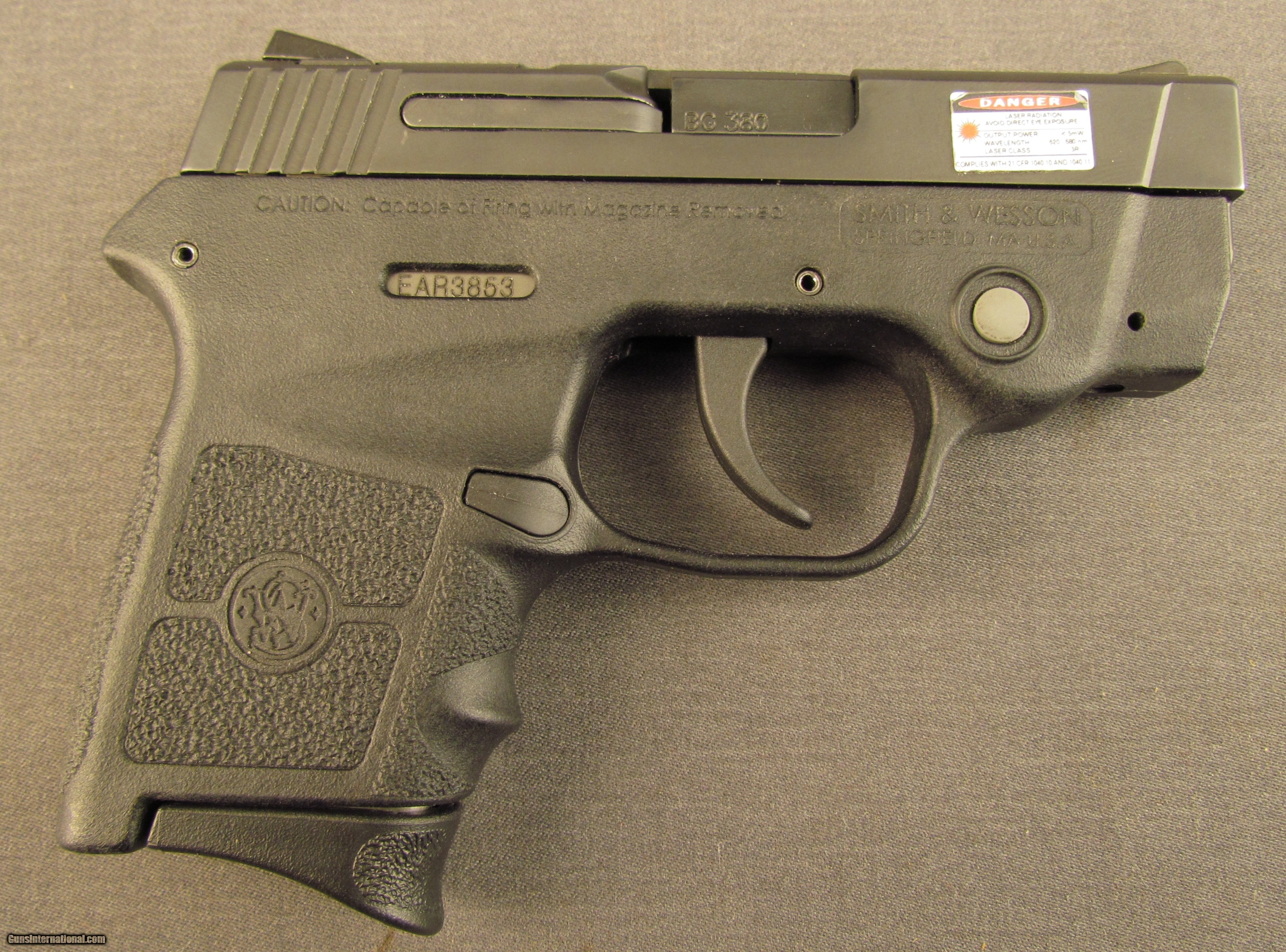Smith & Wesson Bodyguard 380 With Red Laser Sight for sale