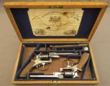 Cased Webley Solid Frame Revolvers by Pape