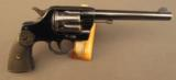 Colt New Army Model 1903 Commerical DA Revolver 38 Long Colt