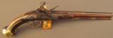18th Century Italian Flintlock Pistol by Lazaro Lazarino