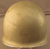 US Army World War II M1 Helmet - 2 of 8