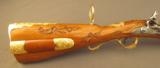 Exquisite 18th Century Gold Embellished German Flintlock Hunting Rifle - 5 of 12