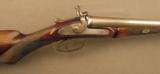 Westley Richards Antique Shotgun Neat Pinfire Conversion to Centerfire