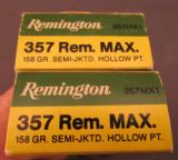 Remington 357 Rem Max 158 CR Box of 20 - 2 of 2
