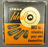 Vintage Lyman Die Set In Collector Grade Condition