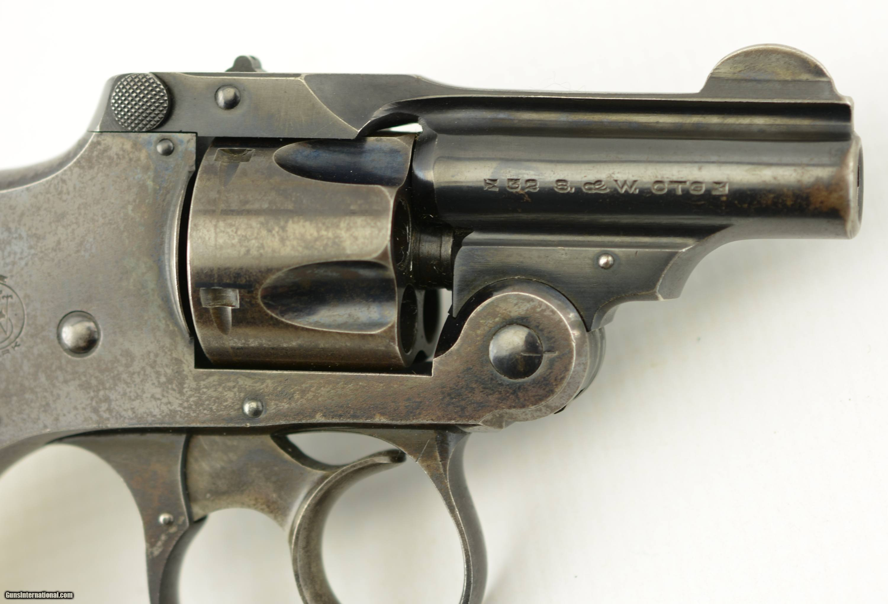 S&W Safety Hammerless Bicycle Gun 32 with Factory Pearl Grips