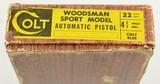 Colt Woodsman Pistol with Box 1960 - 19 of 20