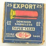 Dominion Shotshell Box CIL Export 20ga